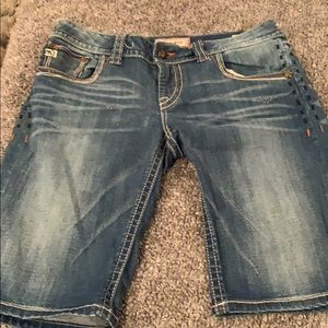 Mel Denim Bermuda shorts